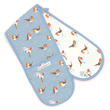 Robins in the snow oven glove product photo