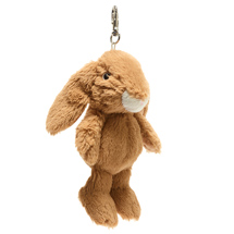 Rosie the rabbit plush beanie keyring product photo