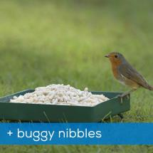 RSPB Metal ground feeder and buggy nibbles product photo