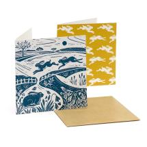RSPB Nature's print square hare notecards (10 pack) product photo