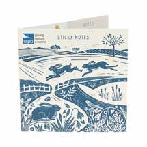RSPB Nature's print hare sticky note set product photo