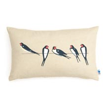 RSPB Swallows cushion - stone oblong product photo