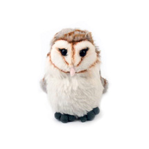 Barn owl cuddly toy, eco product photo