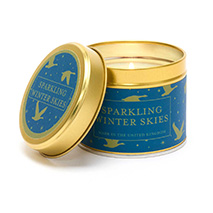 Sparkling winter skies candle product photo