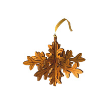 Winter leaf wooden decoration product photo