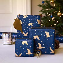 Winter skies roll wrapping paper 5m product photo