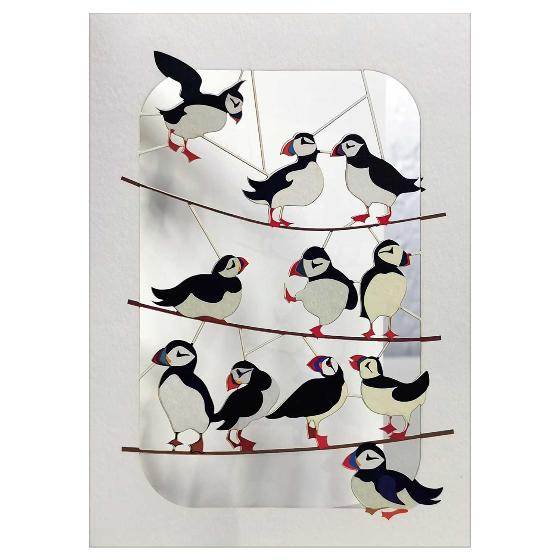 Puffins on branches product photo Default L