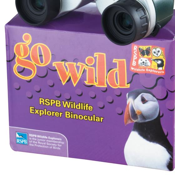 RSPB Children's binoculars (blue) product photo Front View - additional image 1 L