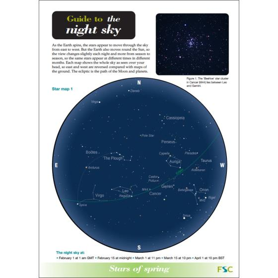 Guide to the night sky fold-out chart product photo Default L