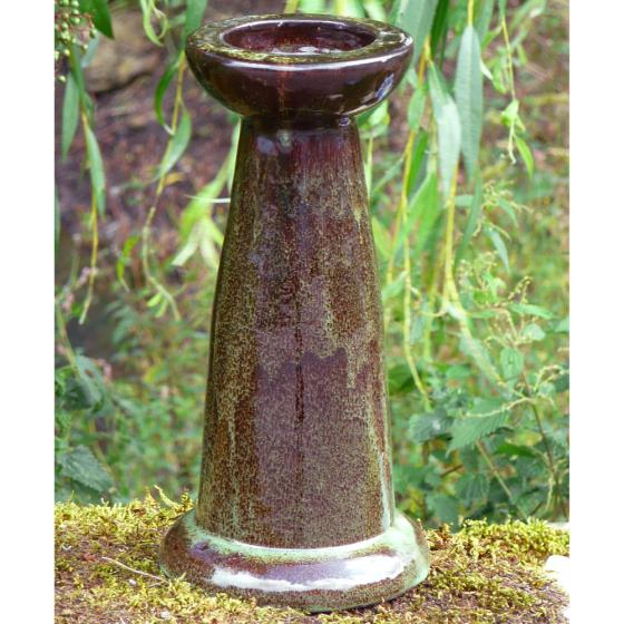 Echoes ceramic bird bath stand product photo Default L