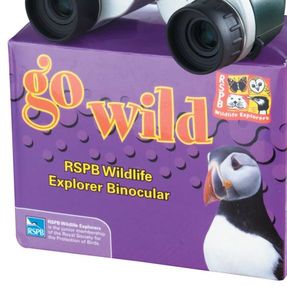RSPB Children's binoculars (green) product photo Front View - additional image 1 L