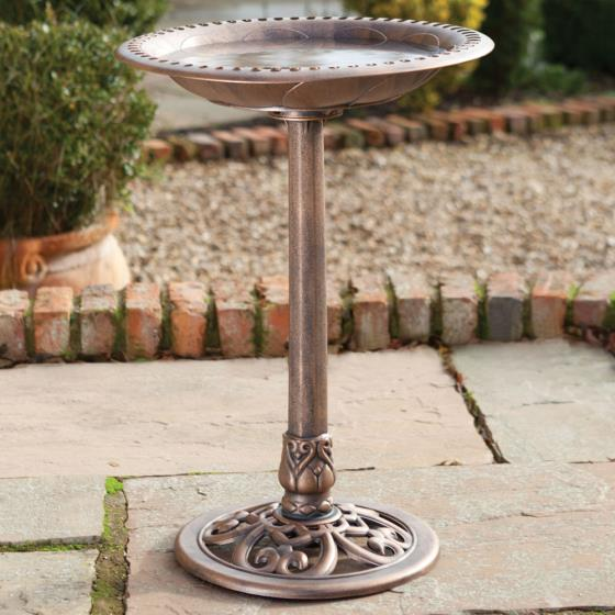 RSPB Bronze effect bird bath product photo Default L