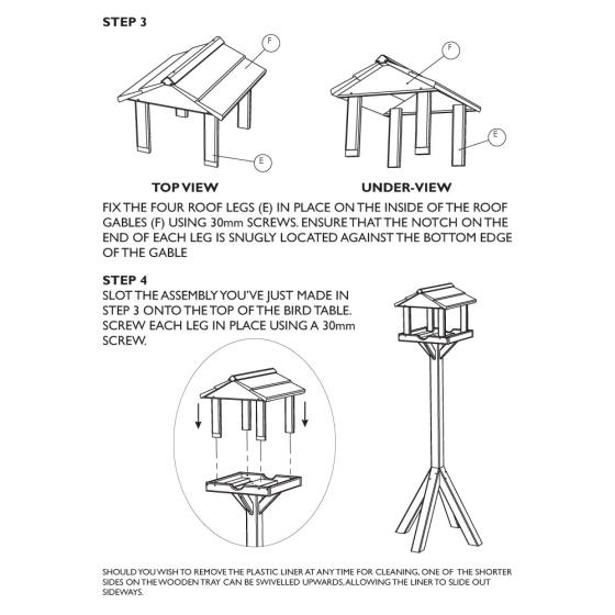 Gallery bird table product photo additional image 4 L
