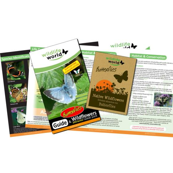 Butterfly attractor seed pack product photo Back View -  - additional image 2 L