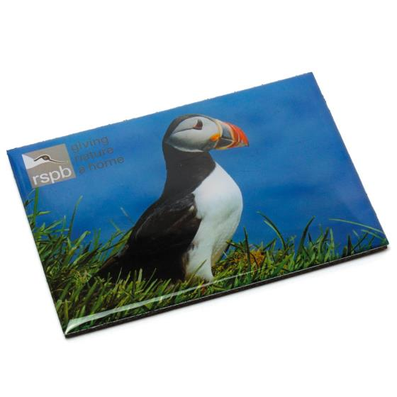 RSPB puffin magnet product photo Default L