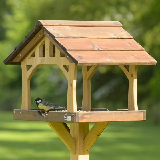 Country barn bird table product photo Back View -  - additional image 2 L