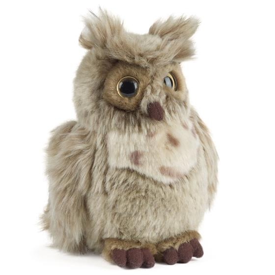 Brown owl plush soft toy product photo Front View - additional image 1 L
