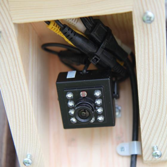 Bird feeder camera housing (only) product photo Back View -  - additional image 2 L