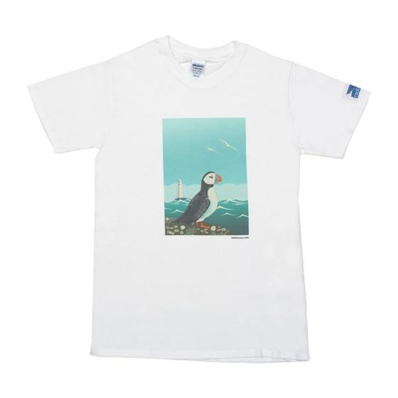 Bempton t-shirt with puffin, adult M product photo Default L