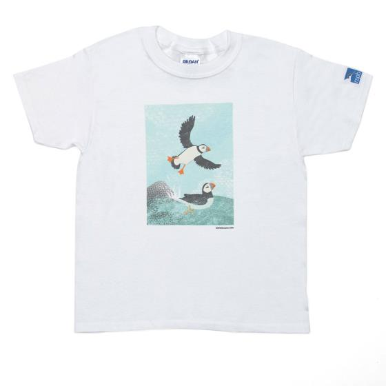Bempton t-shirt with puffin product photo Default L