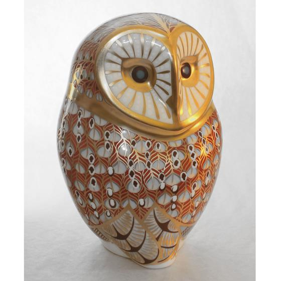 Royal Crown Derby, Barn Owl paperweight product photo Front View - additional image 1 L