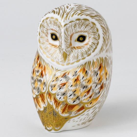 Royal Crown Derby, Winter Owl paperweight product photo Front View - additional image 1 L