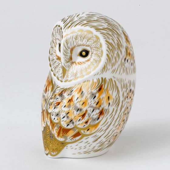 Royal Crown Derby, Winter Owl paperweight product photo Back View -  - additional image 2 L