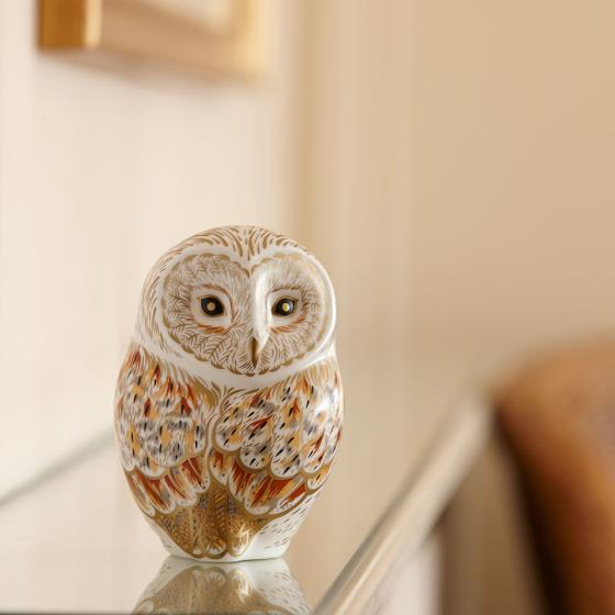 Royal Crown Derby, Winter Owl paperweight product photo Side View -  - additional image 3 L