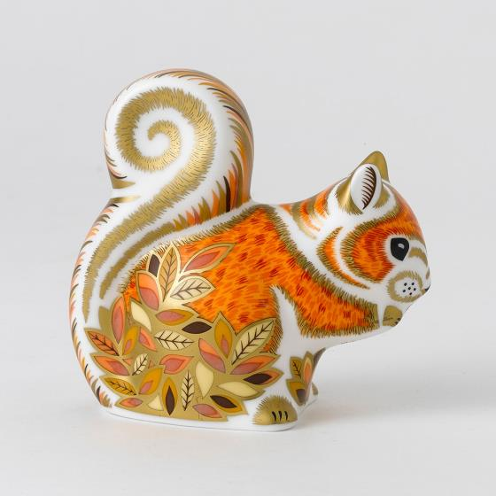 Royal Crown Derby, Squirrel paperweight product photo Back View -  - additional image 2 L