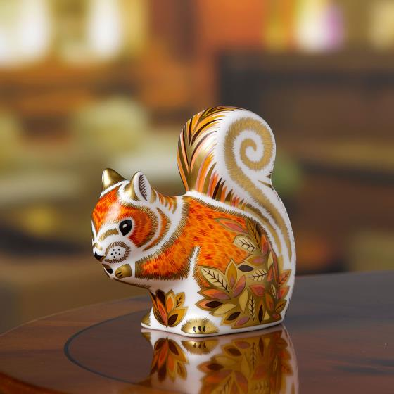 Royal Crown Derby, Squirrel paperweight product photo Side View -  - additional image 3 L