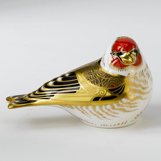 Royal Crown Derby, Goldfinch paperweight product photo Front View - additional image 1 L