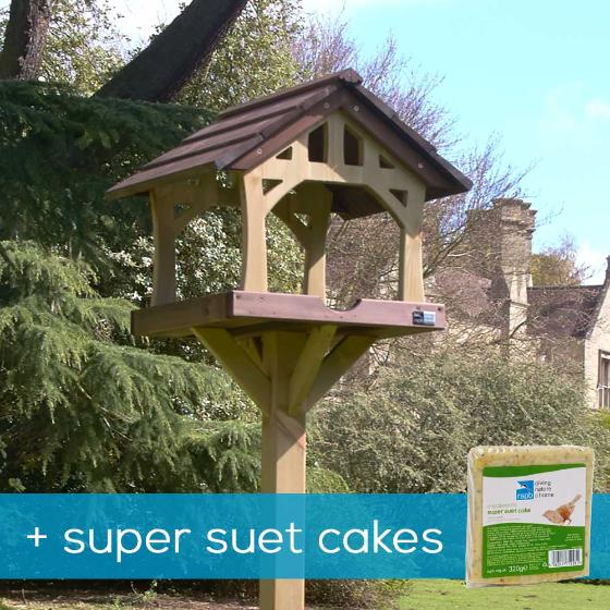 Country barn bird table & super suet cakes offer product photo Default L