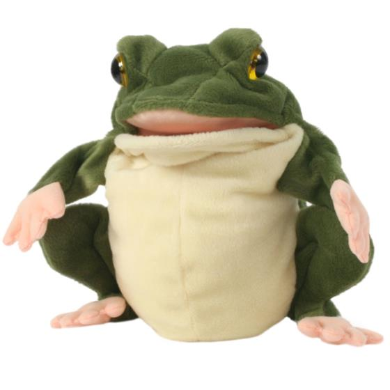 Frog hand puppet product photo Default L