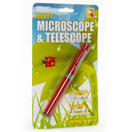Pocket microscope & telescope product photo