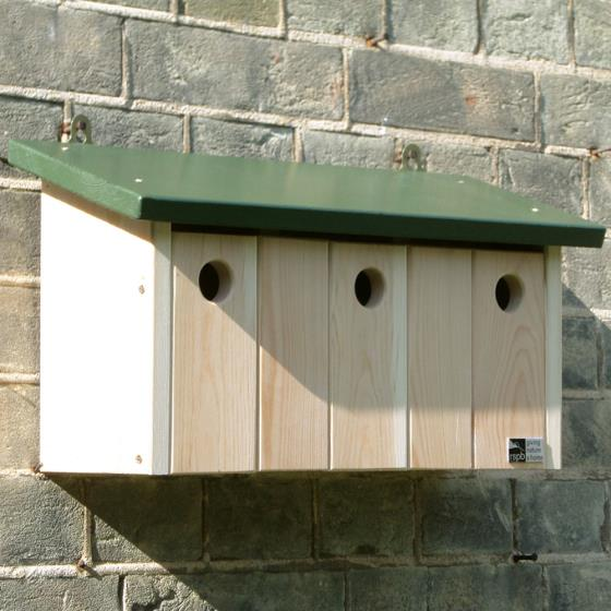 RSPB Sparrow terrace nest box product photo Front View - additional image 1 L