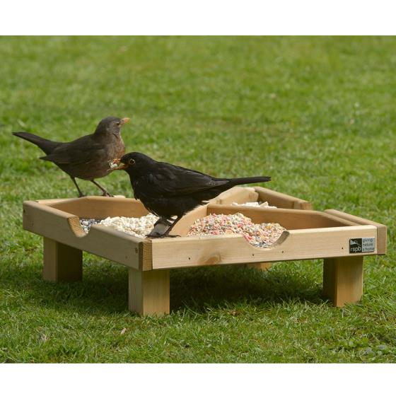 RSPB Ground feeding table product photo Back View -  - additional image 2 L