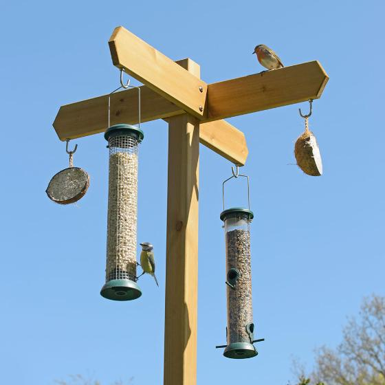 RSPB Signpost wooden feeding station special offer product photo Side View -  - additional image 3 L