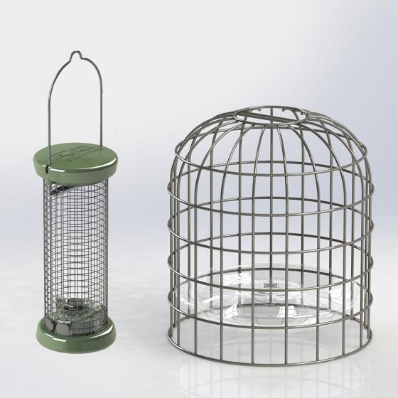 RSPB Ultimate nut & nibble feeder + guardian, small product photo Default L