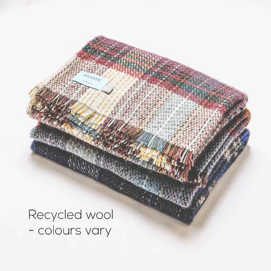 Recycled wool blanket product photo