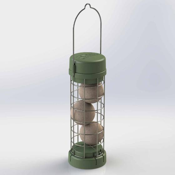 RSPB Classic easy-clean suet feeder product photo Front View - additional image 1 L