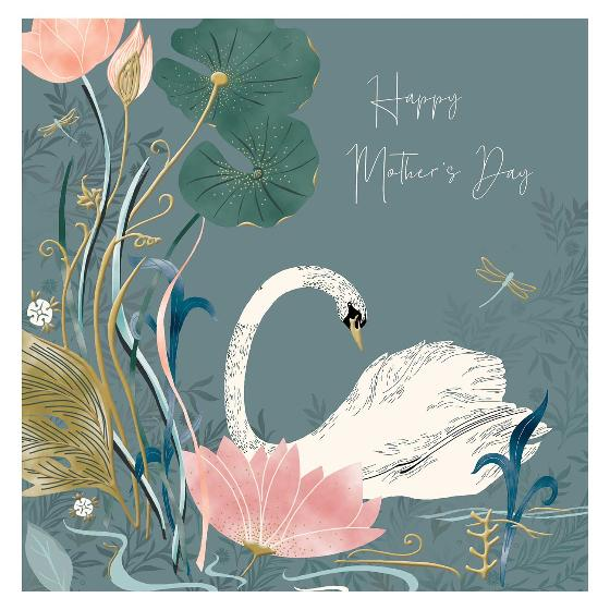 Happy Mother's Day Swan card product photo Default L