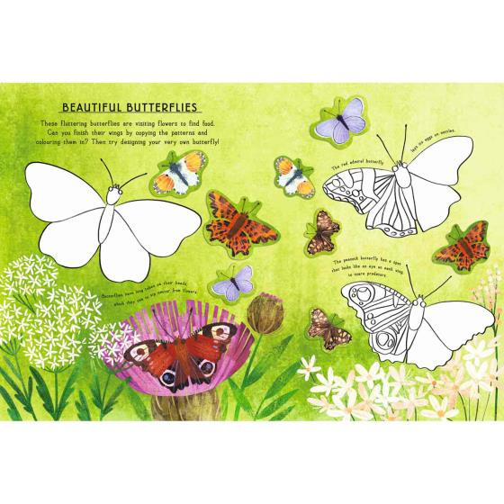 RSPB Woodland animals activity sticker book product photo Back View -  - additional image 2 L