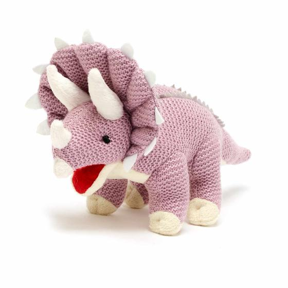 Triceratops knitted dinosaur product photo