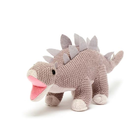 Stegosaurus knitted dinosaur product photo Front View - additional image 1 L