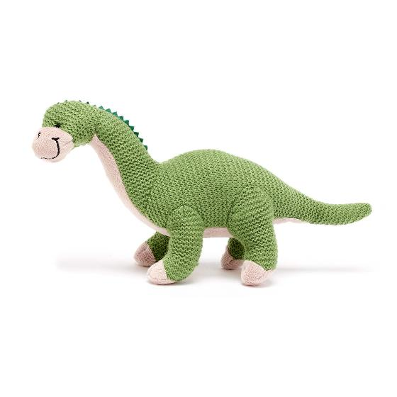 Brontosaurus knitted dinosaur product photo Front View - additional image 1 L