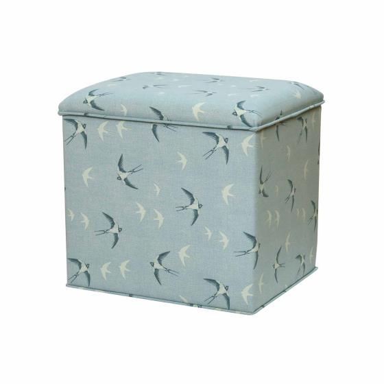 Stuart Jones RSPB Grosvenor ottoman, swallows product photo