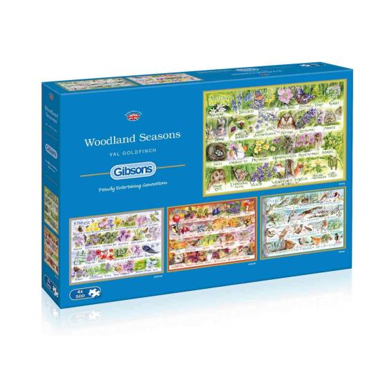 Woodland seasons 4 jigsaws x 500 pieces each product photo