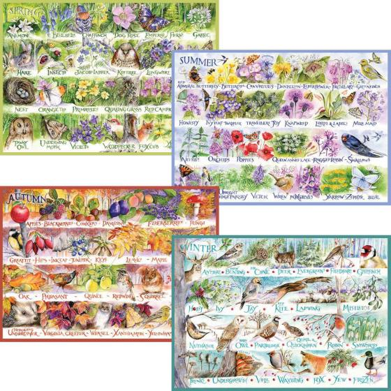Woodland seasons 4 jigsaws x 500 pieces each product photo Front View - additional image 1 L