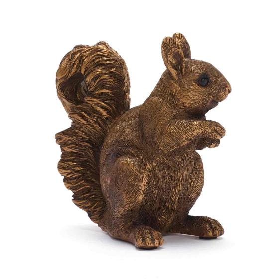 Red squirrel ornament product photo Back View -  - additional image 2 L