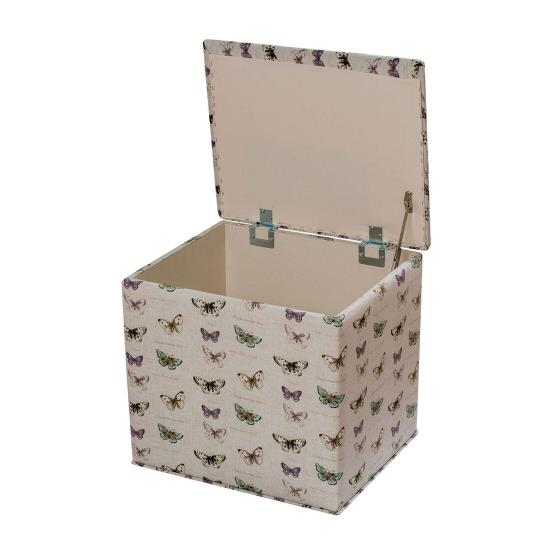 Stuart Jones RSPB grosvenor butterflies ottoman product photo Front View - additional image 1 L